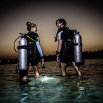 Diving Diver Nightdive