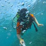 subacqueo selfie
