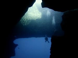 Blue Hole divesite Gozo Malta
