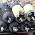 Oxygen Tanks Diving Bottles Panzer  - manfredrichter / Pixabay
